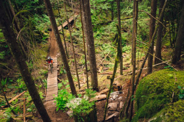 Rupert mountain bike trail, Squamish