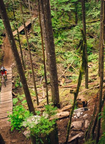 Rupert mountain bike trail, Squamish