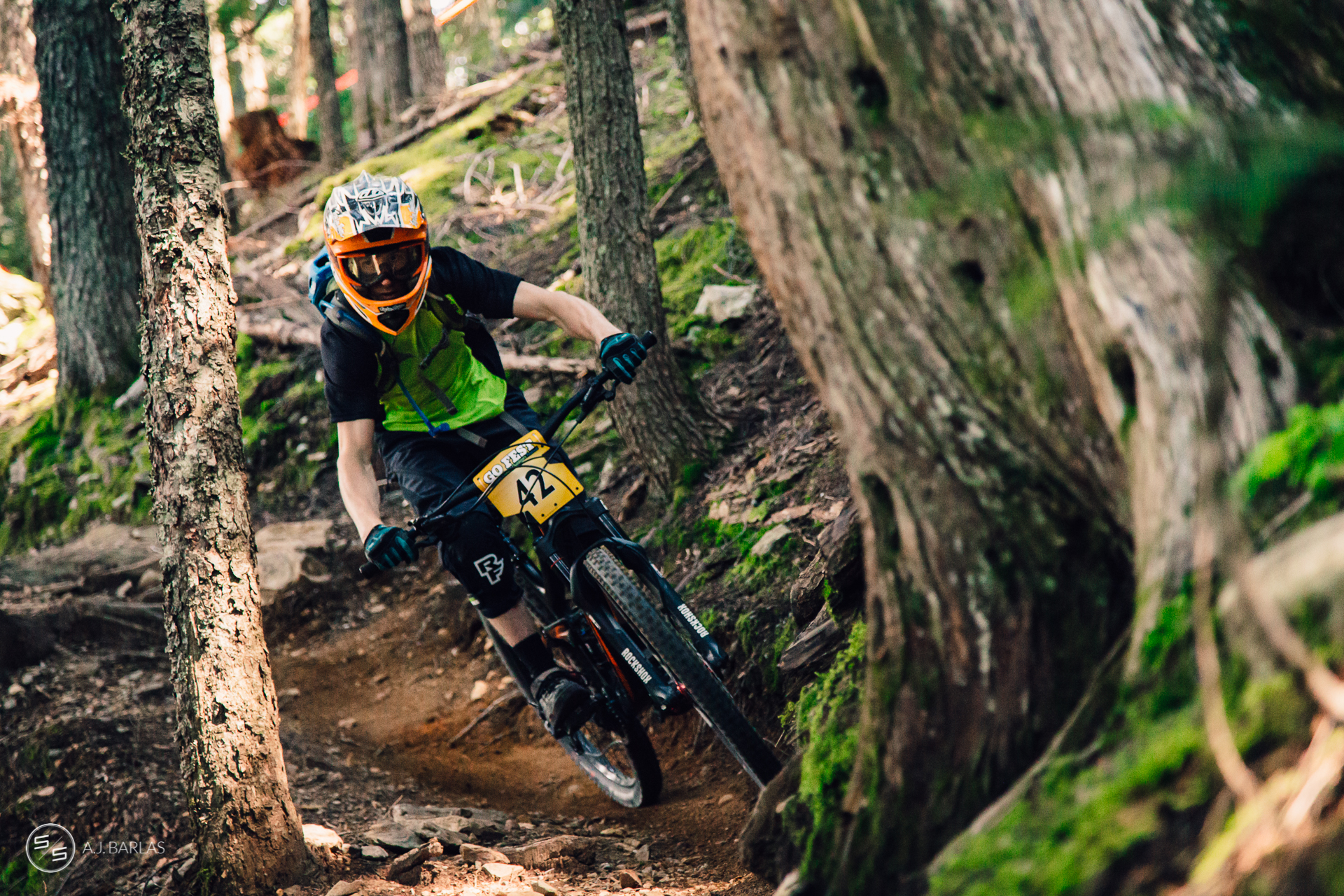 Junior racer at the Whistler NAET Enduro