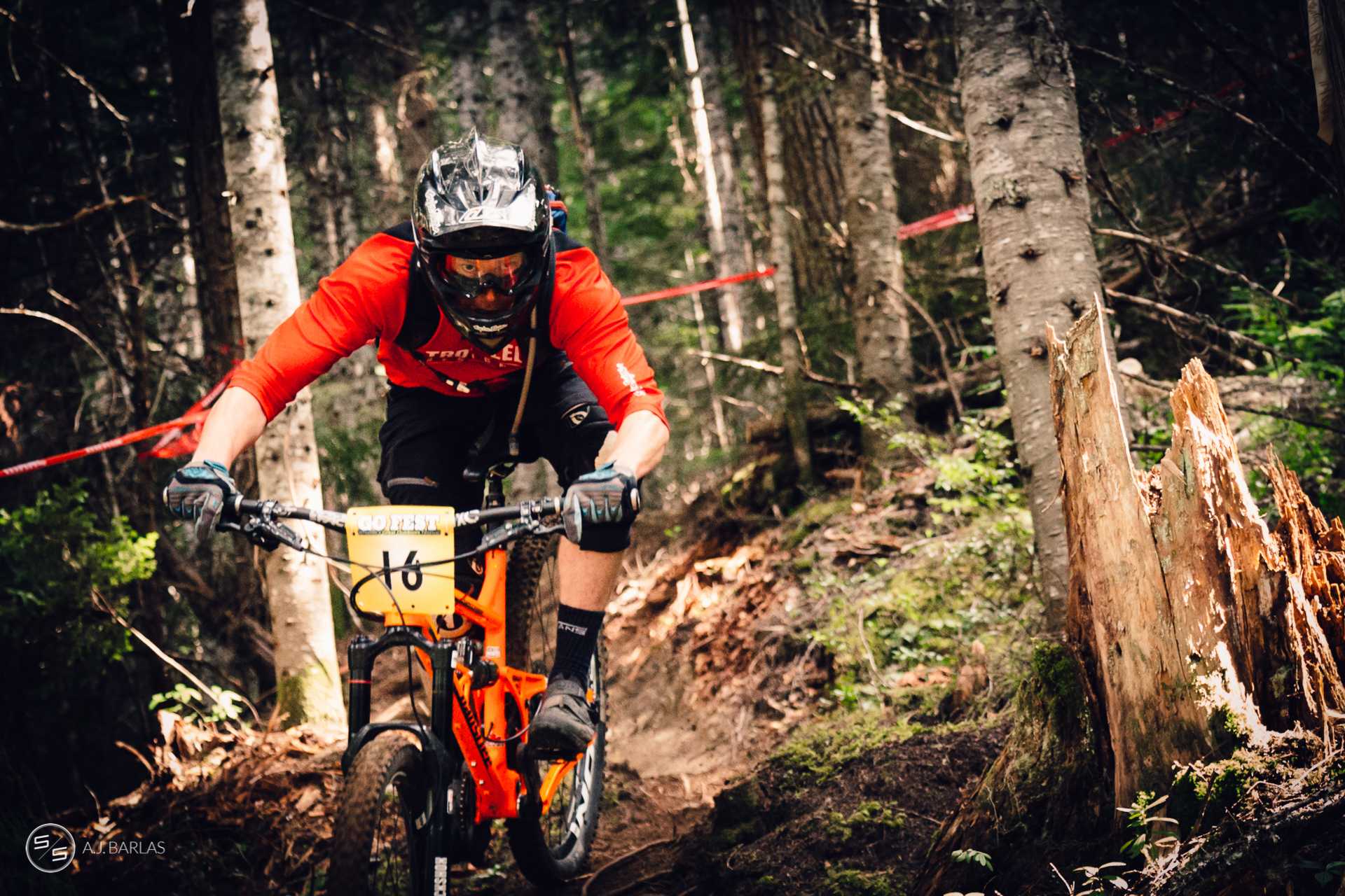 Shane Gayton at the Whistler NAET Enduro