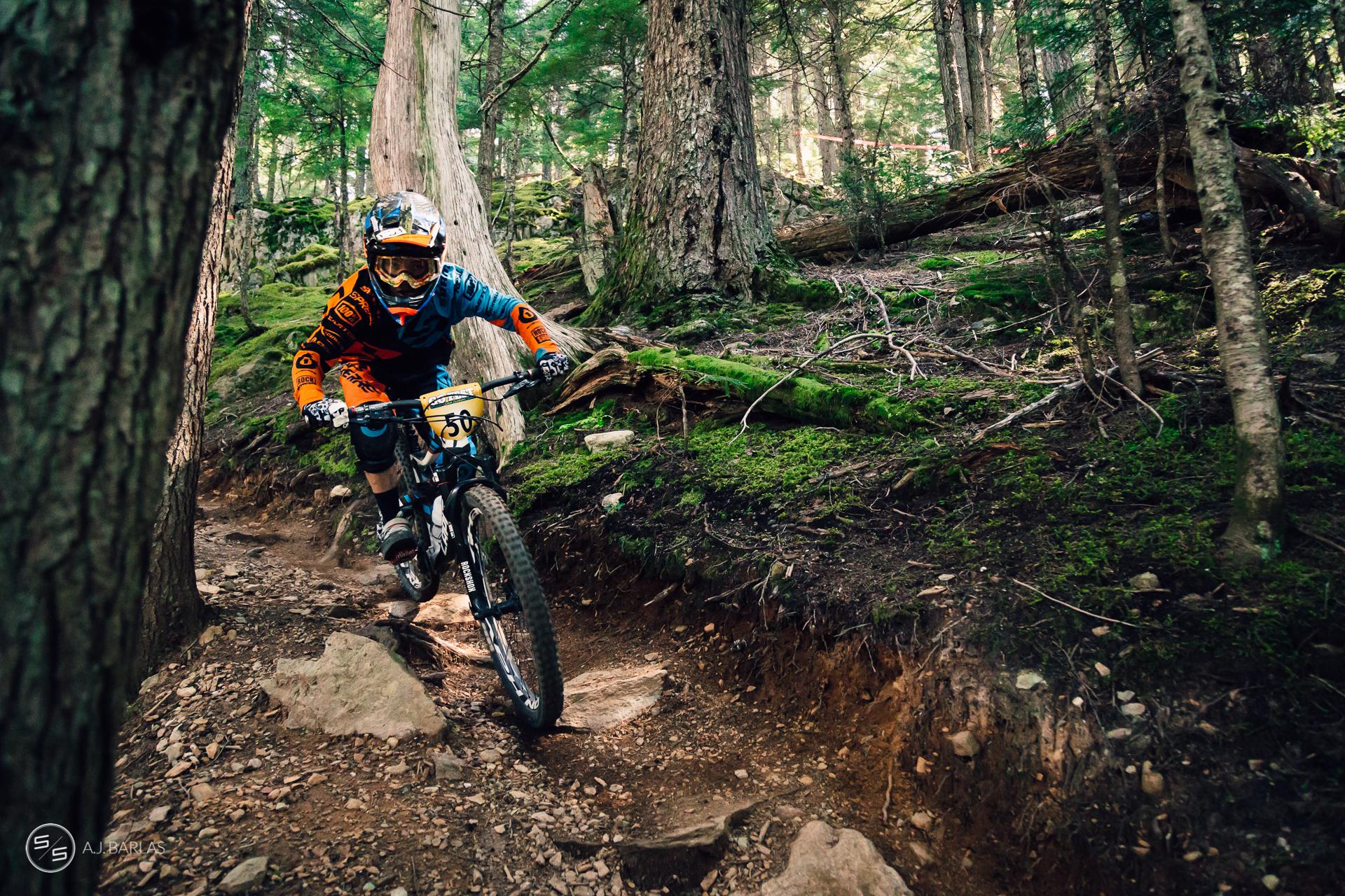 Finn Iles racing NAET Whistler