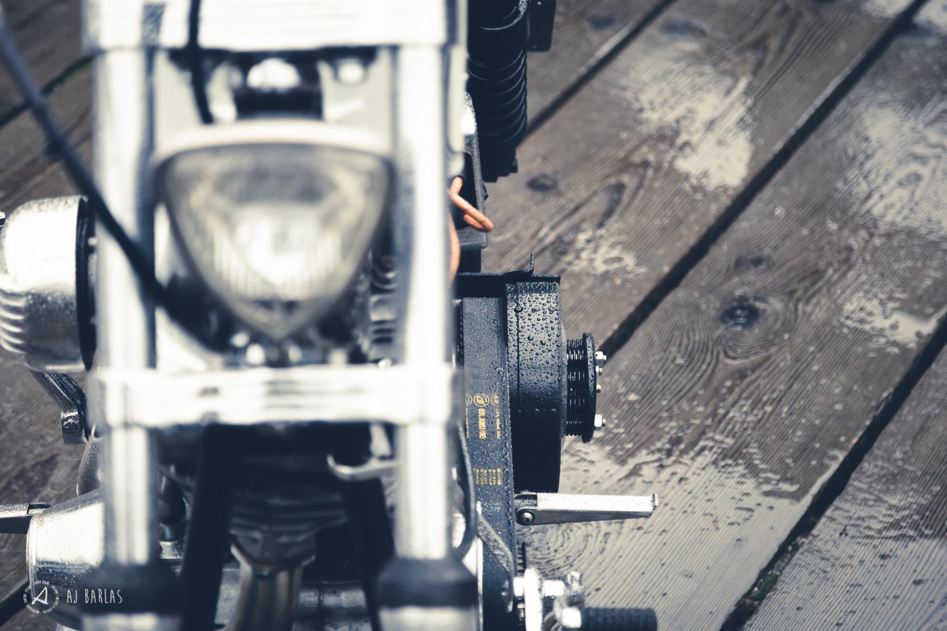Custom Harley Davidson Shovelhead belts