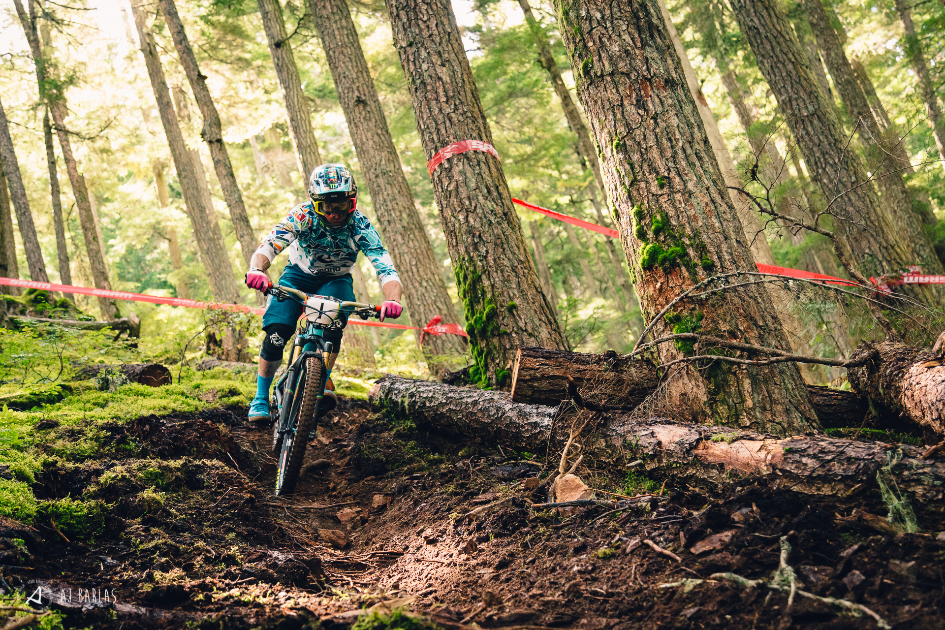 Jared Graves smashing through the loam on Blackcomb